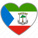 country, equatorial guinea, flag heart, love, nation icon