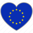 european, flag heart, euro, europe, flag, love, nation