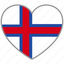 country, faroe, flag, flag heart, love, nation icon