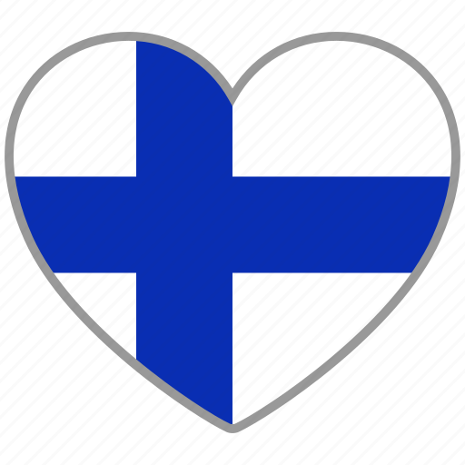 country, finland, flag, flag heart, love icon