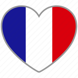 country, flag, flag heart, france, love icon