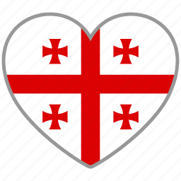 flag, flag heart, georgia, love, nation icon