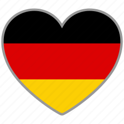 flag, flag heart, germany, love, nation icon