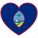 country, flag heart, guam, love icon