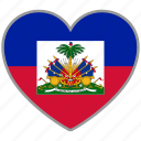 country, flag, flag heart, haiti, love icon