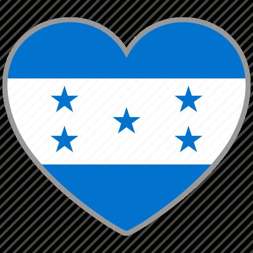 country, flag, flag heart, honduras, love icon
