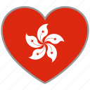 country, flag, flag heart, hong kong, hongkong, love icon