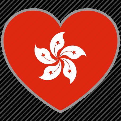 country, flag, flag heart, hong kong, hongkong, love icon