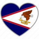 american samoa, country, flag, flag heart, love icon