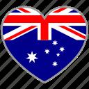 australia, flag heart, country, flag, love