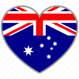 australia, country, flag, flag heart, love icon