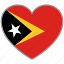 east timor, flag, flag heart, love icon