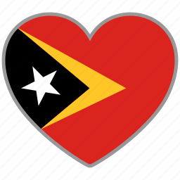 east timor, flag, flag heart, love icon