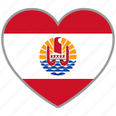 flag, flag heart, french polynesia, love, nation icon
