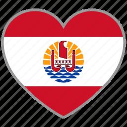 flag, flag heart, french polynesia, love, nation icon