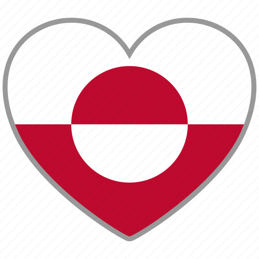 flag, flag heart, greenland, love, nation, national icon