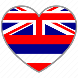country, flag, flag heart, hawaii, love icon