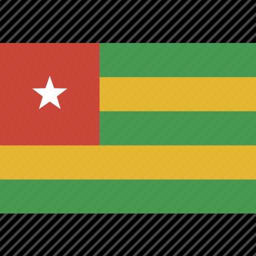 flag, rectangle, togo icon