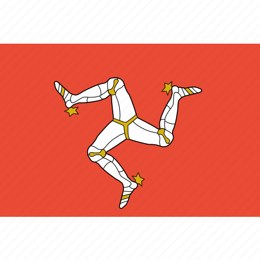country, flag, isle, man, nation, of icon