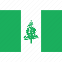 country, flag, island, nation, norfolk icon