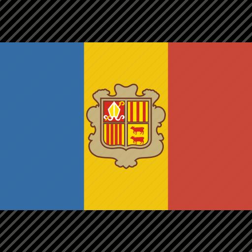 andorra, rectangle icon
