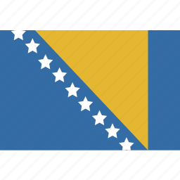 and, bosnia, herzegovina, rectangle icon
