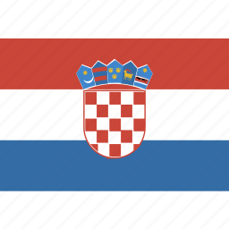 croatia, rectangle icon