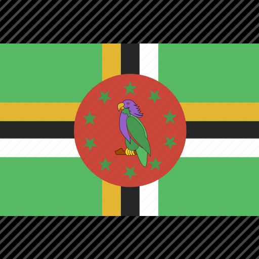 dominica, rectangle icon