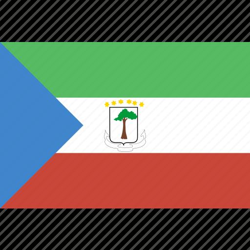 equatorial, guinea, rectangle icon