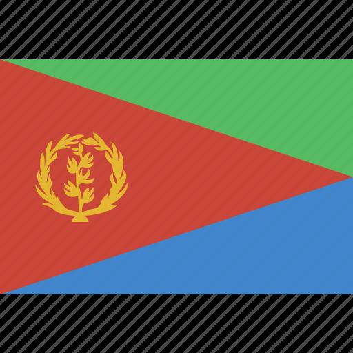 eritrea, rectangle icon