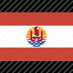 french, polynesia, rectangle icon