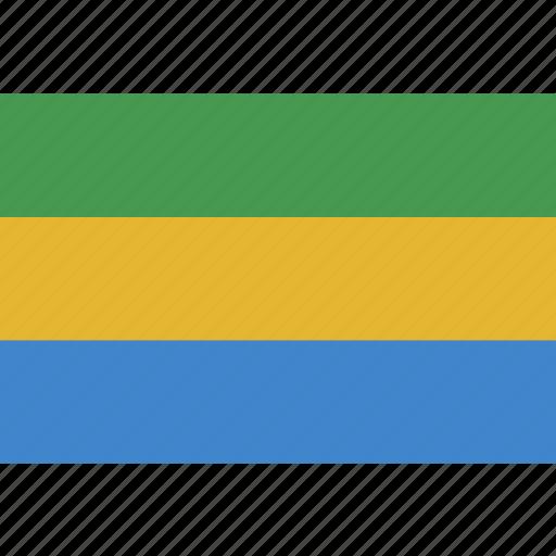 gabon, gabonese, rectangle, republic icon