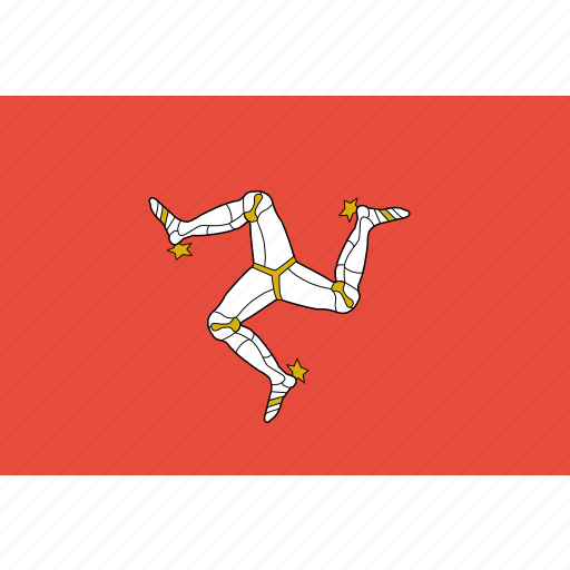 country, flag, isle, mann, nation, of, rectangle icon