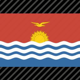 kiribati, rectangle icon