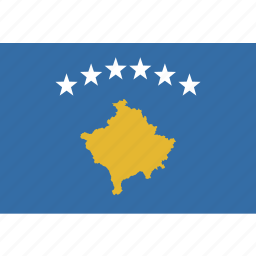 kosovo, rectangle icon