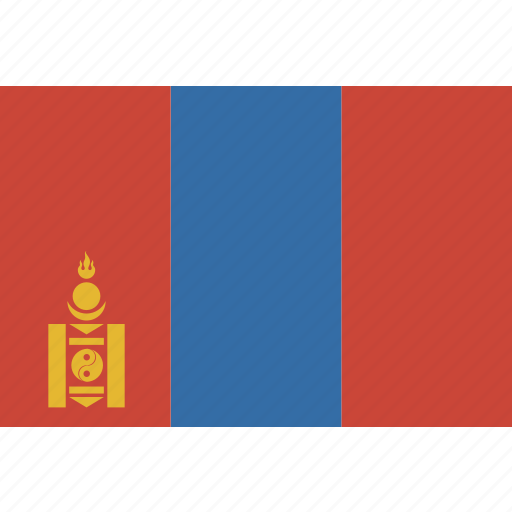 mongolia, rectangle icon