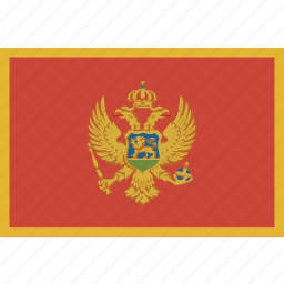 montenegro, rectangle icon