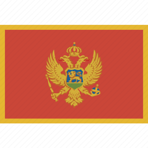 montenegro, rectangle icon