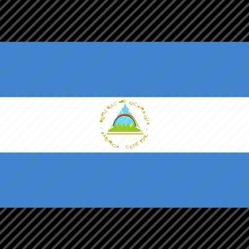 nicaragua, rectangle icon