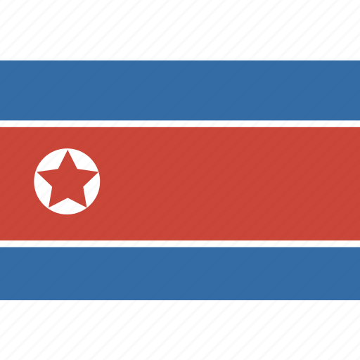 korea, north, rectangle icon