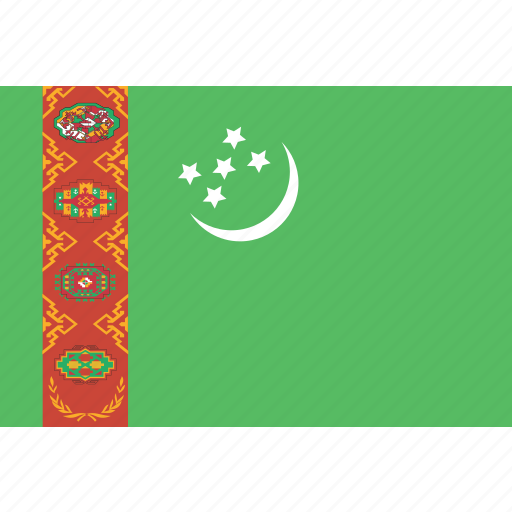 rectangle, turkmenistan icon