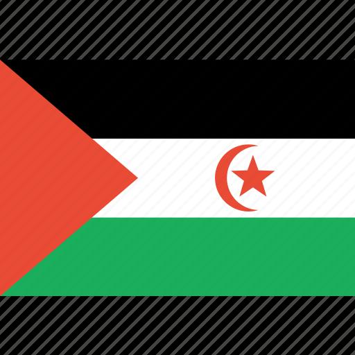 arab, country, flag, nation, sahrawi icon