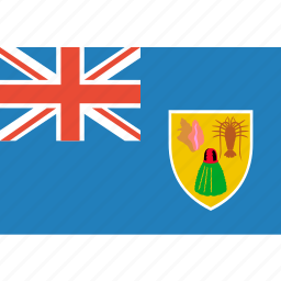 and, caicos, country, flag, nation, the, turks icon