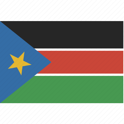 rectangle, south, sudan icon