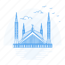 architecture, faisal, landmark, monument, mosque icon