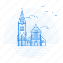 architecture, cathedral, christchurch, landmark, monument icon