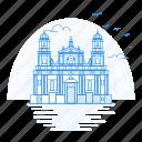architecture, bogota, cathedral, landmark, monument, primatial