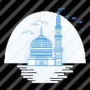 architecture, landmark, madina, monument, mosque icon
