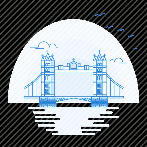 architecture, bridge, landmark, london, monument icon