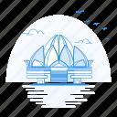architecture, landmark, lotus, monument, temple icon